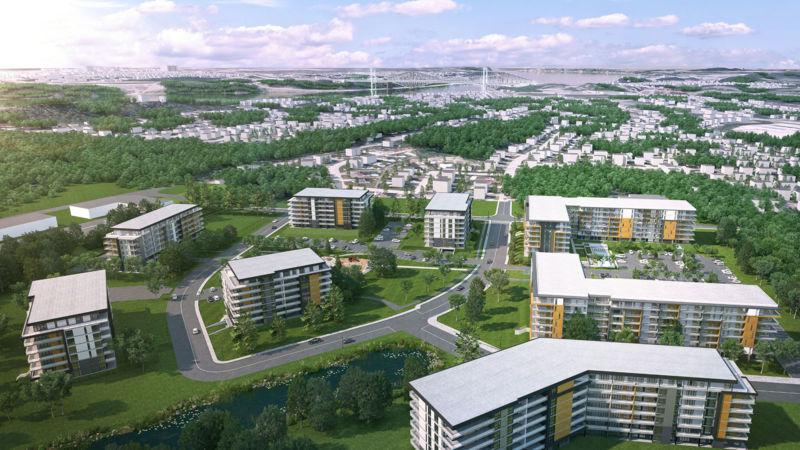 Vue aérienne des Loges Saint-Nicolas