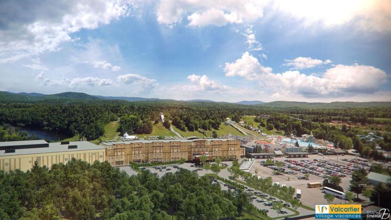 Vue aérienne du Bora Parc et l'hôtel