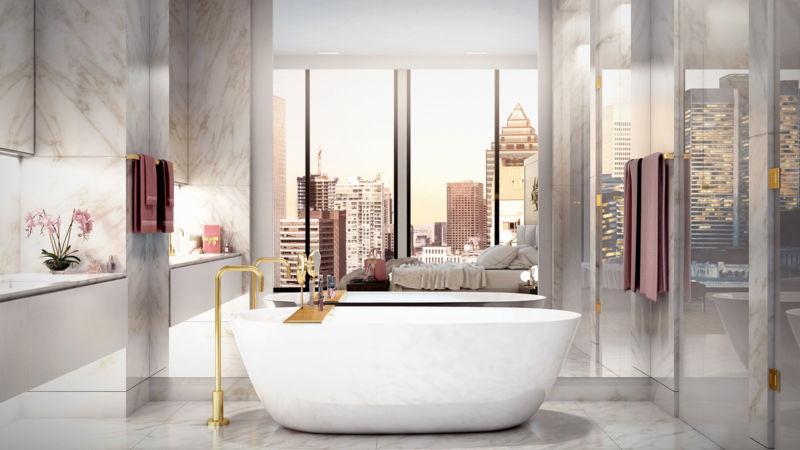 Salle de bain des résidences privées Four Seasons Montréal