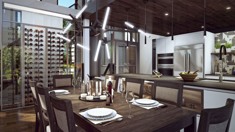 Cuisine et salle à manger de la Maison Tanguay