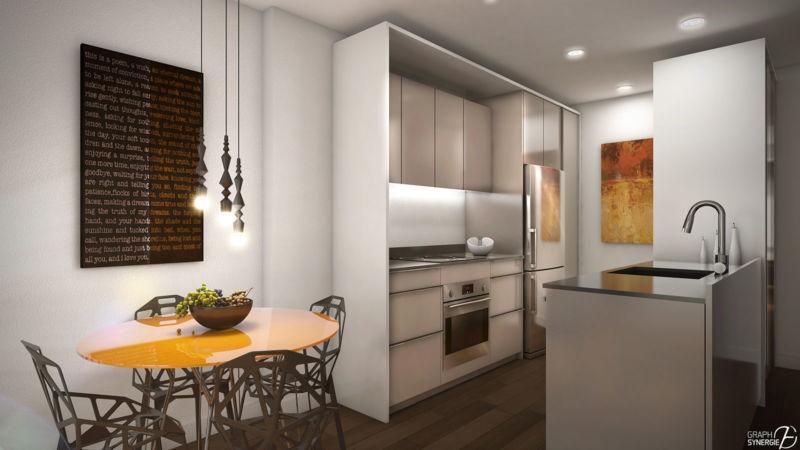 Image 3D d'une cuisine du Quartier QB
