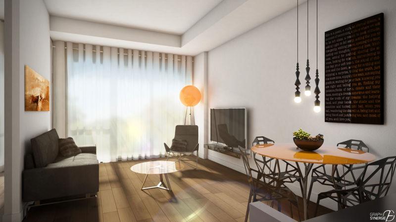 Salon d'un appartement du Quartier QB
