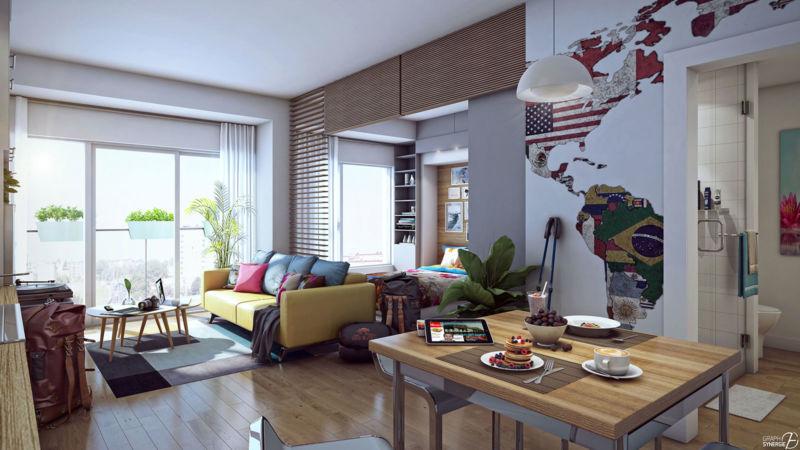 Image d'un intérieur d'apparement REZ