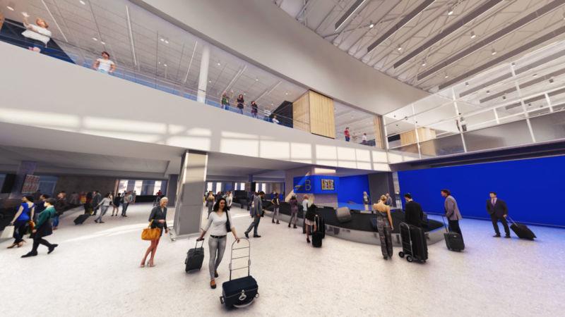 Carrousel de bagages de l'aéroport YQB