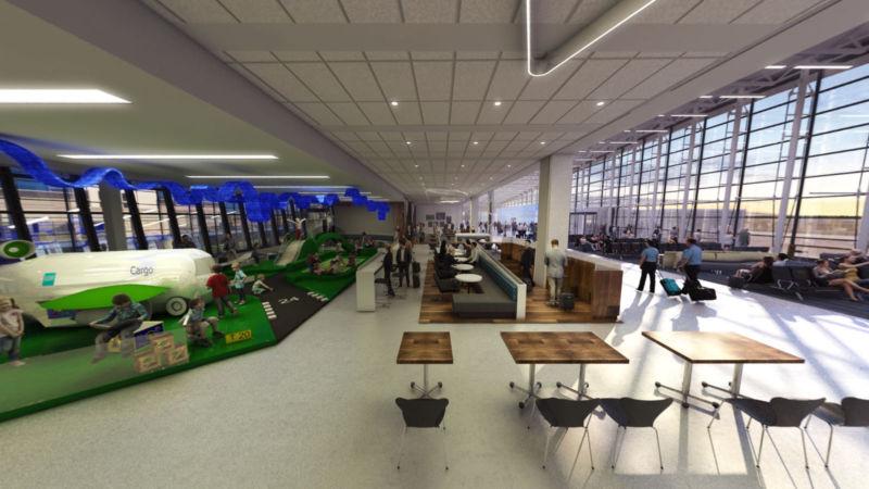 Espace de jeux de l'aéroport YQB