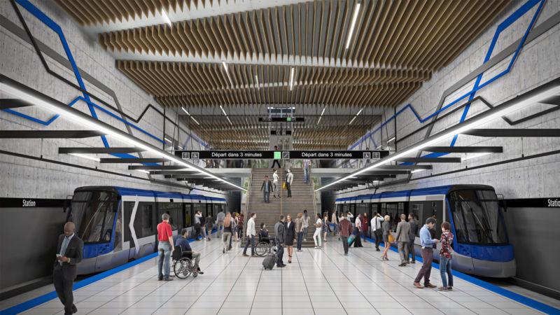 Image d'un terminus du réseau structurant de Québec