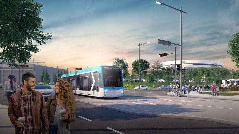 Image 3D du tramway de Québec